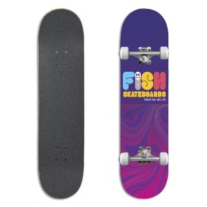 "Deskorolka Fish Skateboards Beginner 8.0"" Worm"