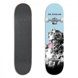 "Deskorolka Fish Skateboards Beginner 8.0"" Bubble Gum"